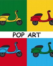 Moped mural wallpaper thumbnail