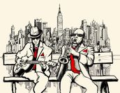 New York Jazz mural wallpaper thumbnail