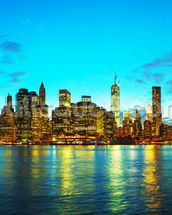 New York Cityscape at Sunset wall mural thumbnail