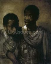 Two Negroes, 1661 (oil on canvas) wallpaper mural thumbnail