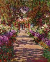 A Pathway in Monets Garden, Giverny, 1902 wall mural thumbnail