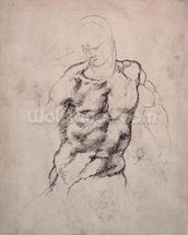 Figure Study (charcoal on paper) mural wallpaper thumbnail
