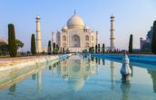 Taj Mahal Sunrise mural wallpaper thumbnail