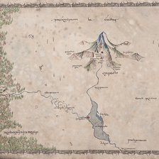 The Lonely Mountain Map mural wallpaper