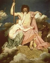 Jupiter and Thetis, 1811 (oil on canvas) wall mural thumbnail