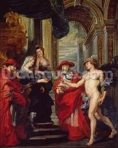 The Medici Cycle: The Treaty of Angouleme 30 April 1619, 1621-5 (oil on canvas) wall mural thumbnail