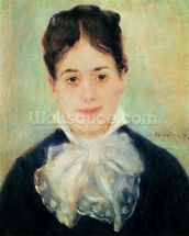 Woman Smiling, 1875 (oil on canvas) wall mural thumbnail