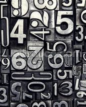 Old Metal Numbers mural wallpaper thumbnail