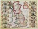 Britain As It Was Devided In The Tyme of the Englishe Saxons especially during their Heptarchy (hand coloured copper engraving) wall mural thumbnail