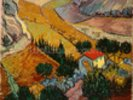 Landscape with House and Ploughman, 1889 (oil on canvas) wall mural thumbnail