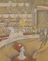 The Circus, 1891 (oil on canvas) mural wallpaper thumbnail