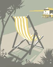 Rock Deckchair wallpaper mural thumbnail