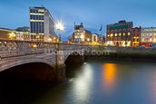 Dublin at Night wall mural thumbnail