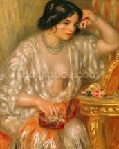Gabrielle with Jewellery, 1910 (oil on canvas) wallpaper mural thumbnail
