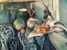 Still Life with Pitcher and Aubergines (oil on canvas) wall mural thumbnail