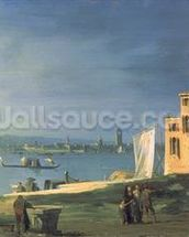 View of Venice (oil on canvas) wallpaper mural thumbnail