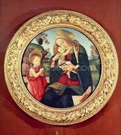 Virgin and Child with John the Baptist mural wallpaper thumbnail