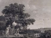Shooting, plate 3, engraved by William Woollett (1735-85) 1770 (engraving with etching) mural wallpaper thumbnail