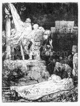 The Descent from the Cross, 1654 (etching) mural wallpaper thumbnail