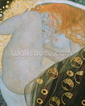 Danae, 1907-08 (oil on canvas) wallpaper mural thumbnail