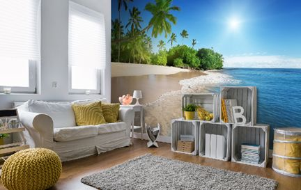 beach wallpaper & wall murals | wallsauce usa
