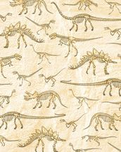 Dino Walking Skeletons mural wallpaper thumbnail