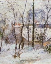 Garden under Snow, 1879 wallpaper mural thumbnail