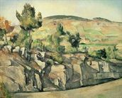 Hillside in Provence, c.1886-90 (oil on canvas) wall mural thumbnail