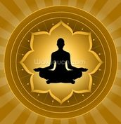 Yoga - Meditation On Lotus Background mural wallpaper thumbnail