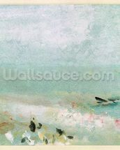 Beach with figures and a jetty. c.1830 (w/c & gouache) mural wallpaper thumbnail