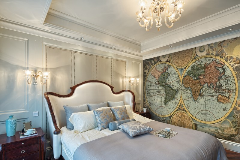 ancient-map-wallpaper-guest-bedroom-decor