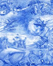 Blue Illustration wallpaper mural thumbnail