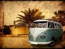 VW Camper on Holiday wall mural thumbnail