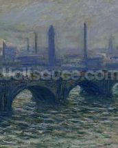Waterloo Bridge, 1902 (oil on canvas) mural wallpaper thumbnail