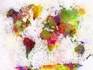 World Map Colour Splash wall mural thumbnail