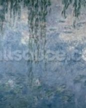 Waterlilies: Morning with Weeping Willows, 1914-18 (right section) wallpaper mural thumbnail