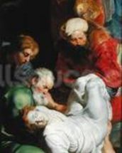 The Entombment of St. Stephen, from the Triptych of St. Stephen (oil on panel) wall mural thumbnail