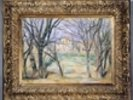 Trees and houses, 1885-86 (oil on canvas) (see also 393802) wall mural thumbnail