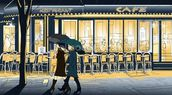 Strolling in the Rain wallpaper mural thumbnail