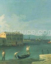 View of San Michele in Isola, Venice (oil on canvas) mural wallpaper thumbnail