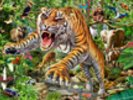 Tiger and Wildlife wall mural thumbnail