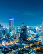 Bangkok Cityscape at Night mural wallpaper thumbnail