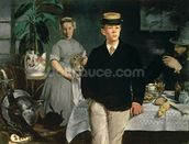 Luncheon in the Studio, 1868 (oil on canvas) wallpaper mural thumbnail