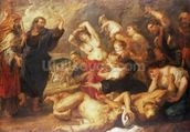The Brazen Serpent, c.1635-40 (oil on canvas) wallpaper mural thumbnail
