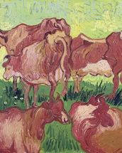 Cows, 1890 (oil on canvas) mural wallpaper thumbnail