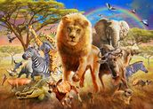 African Stampede wall mural thumbnail