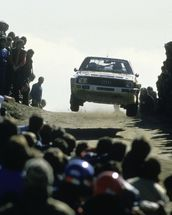 Group B Rally Car and Fans, Portugal 1985 wall mural thumbnail
