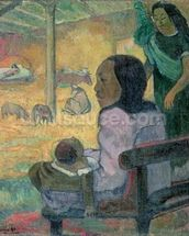 Be Be (The Nativity), 1896 (oil on canvas) mural wallpaper thumbnail