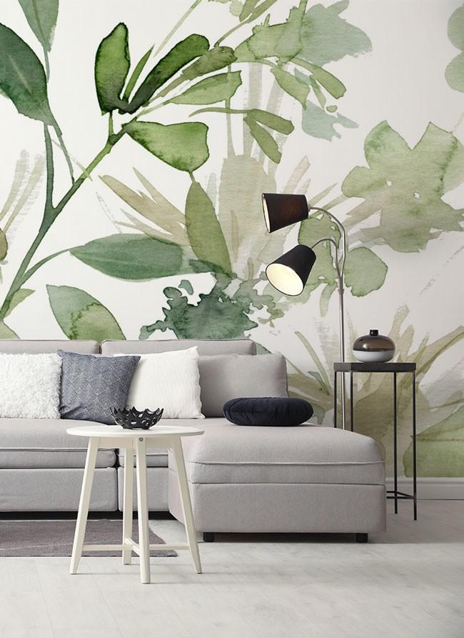 Flamingo Wallpaper Floral Wall Mural Cactus Wall Art British Home Decor Classical Cafe Design Living Room Bedroom
