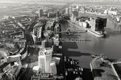 Düsseldorf Ariel View in Black & White wall mural thumbnail
